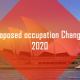 Proposed Occupation Changes 2020