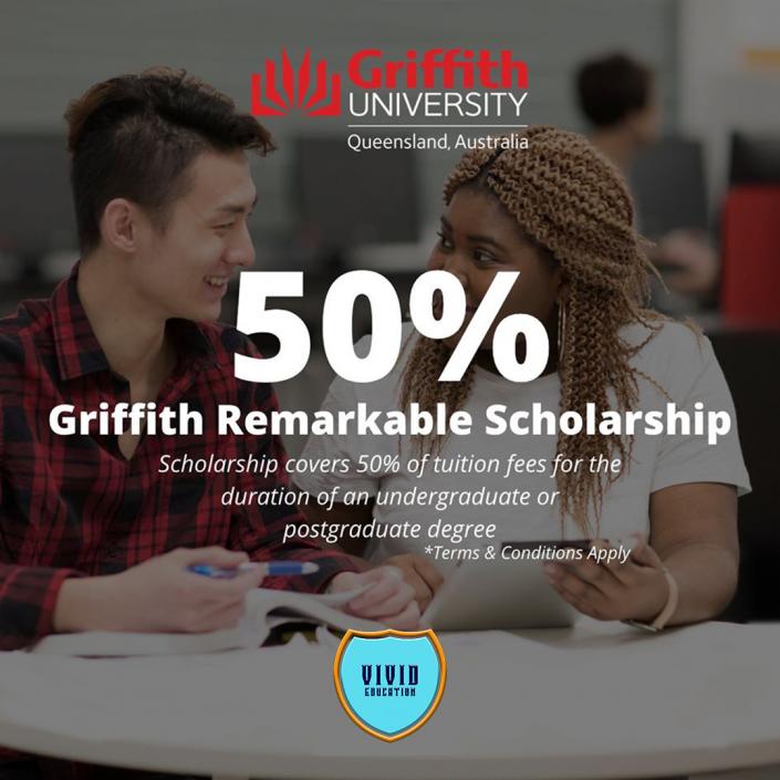 Griffith University 50% scholarship